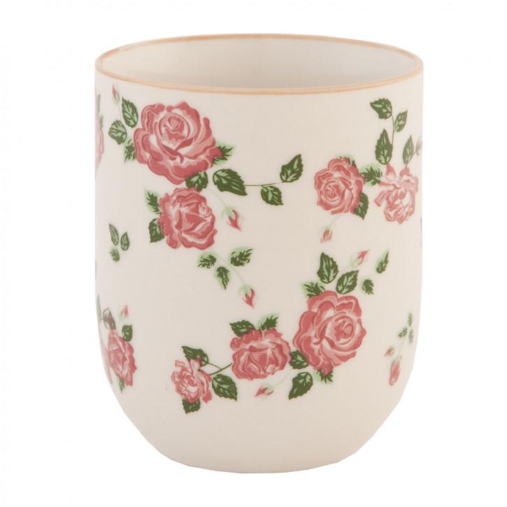 Becher Tasse ohne Henkel Blumen ca. Ø 6 x 8 cm