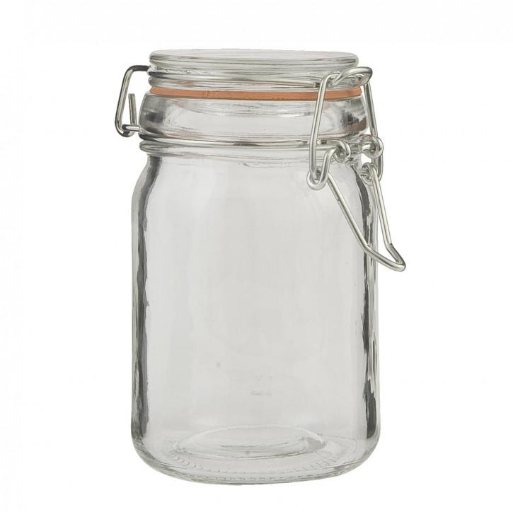 Vorratsglas mit Schnappverschluss transparent ca. Ø 10 x 11 cm