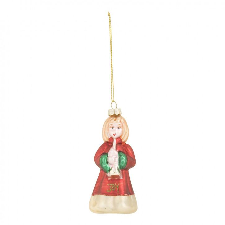 Weihnachtskugel Mädchen bunt ca. 11 cm