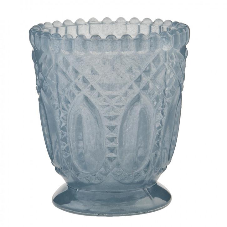 Windlicht Glas blau 7*8cm