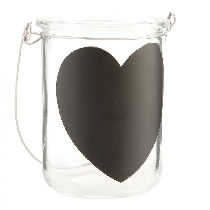 """Teelichthalter Glas """"Herz"""" Ø8*8cm"""