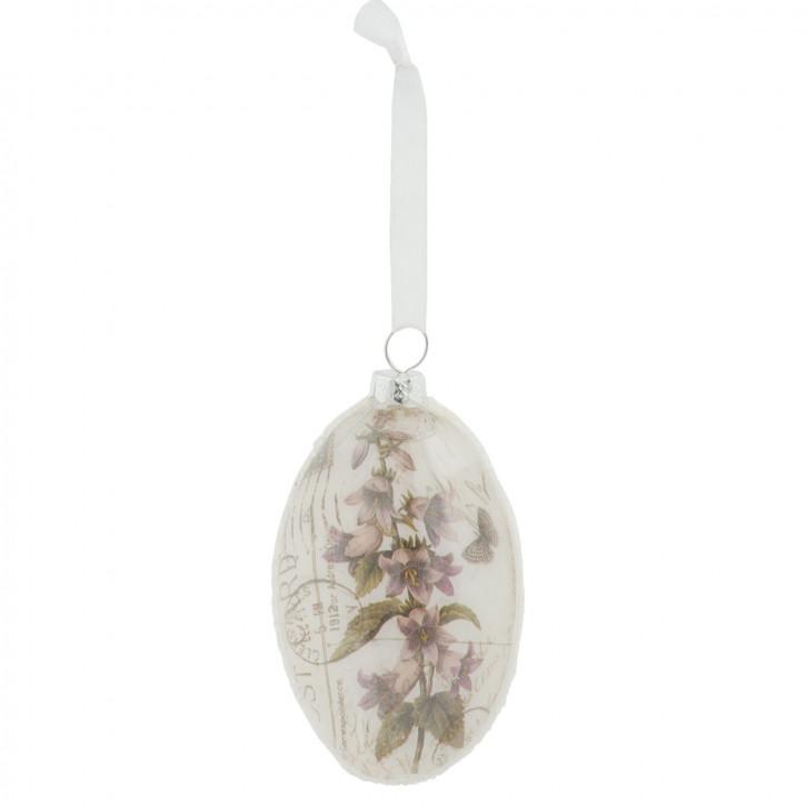 Kugelaufhänger mit Blumenmuster, oval