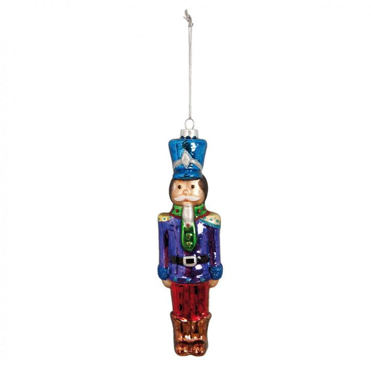 Weihnachtskugel Soldat ca. 5 x 18 cm