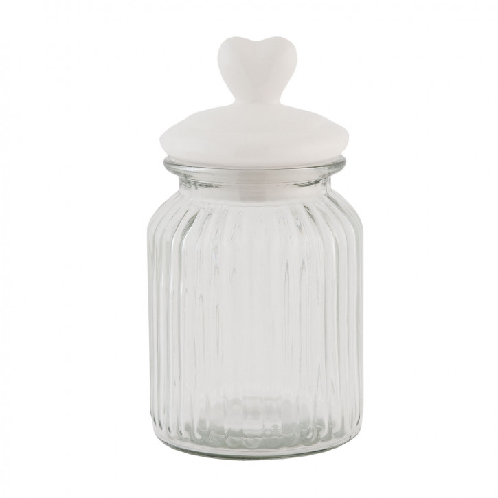 Vorratsglas Herz transparent ca. Ø 11 x 20 cm