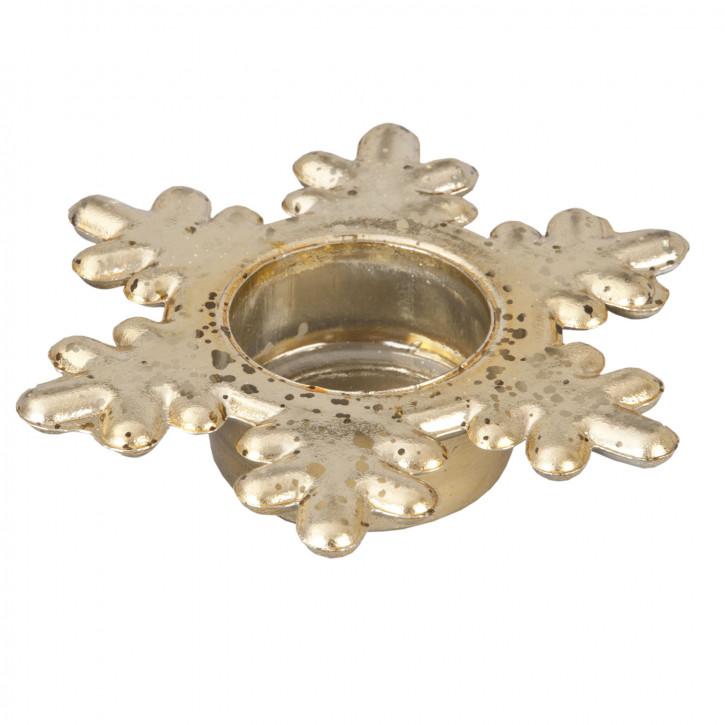 """Teelichthalter """"Stern"""" gold Ø12*3cm"""