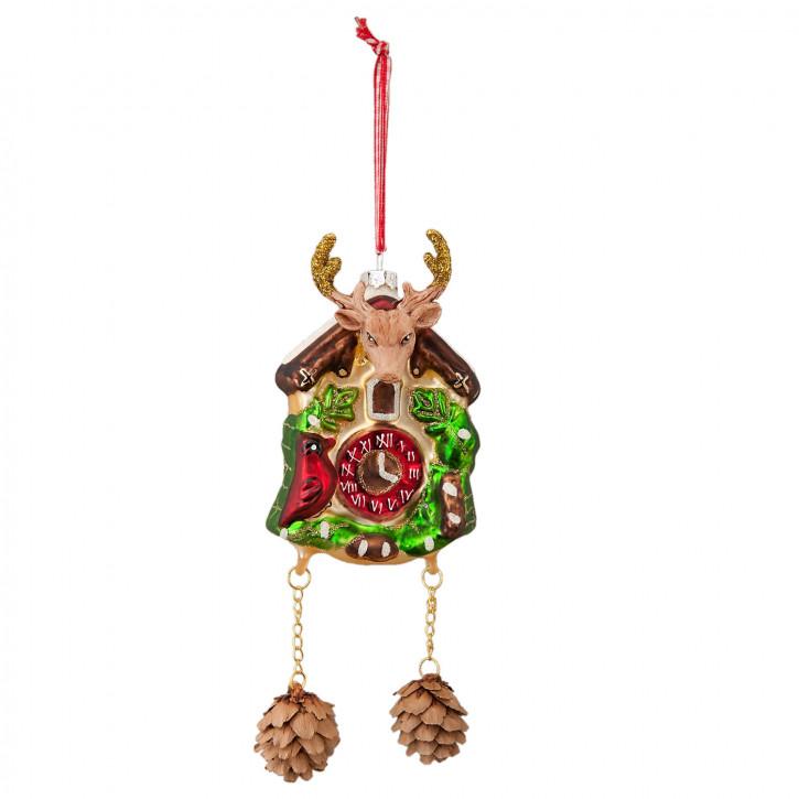 Anhänger Weihnachtskugel Kuckucksuhr Uhr bunt ca. 17 cm