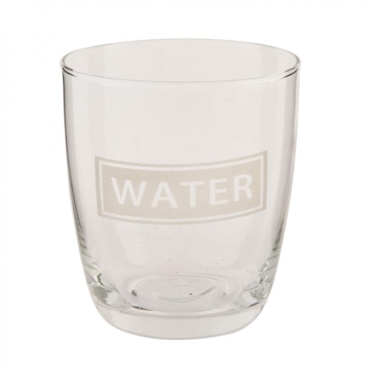 Trinkglas Wasserglas Glas Water transparent ca. Ø 8 x 9 cm