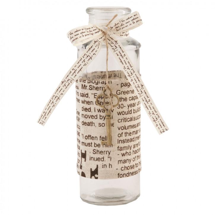 Flasche Glasflasche Schlüssel ca. Ø 5 x 17 cm