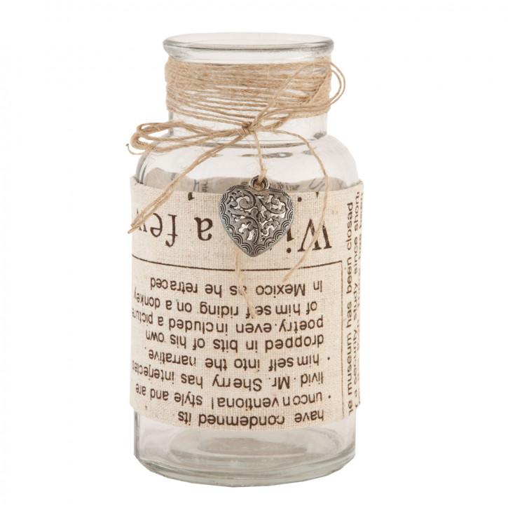 Flasche Glasflasche Herz ca. Ø 6 x 13 cm