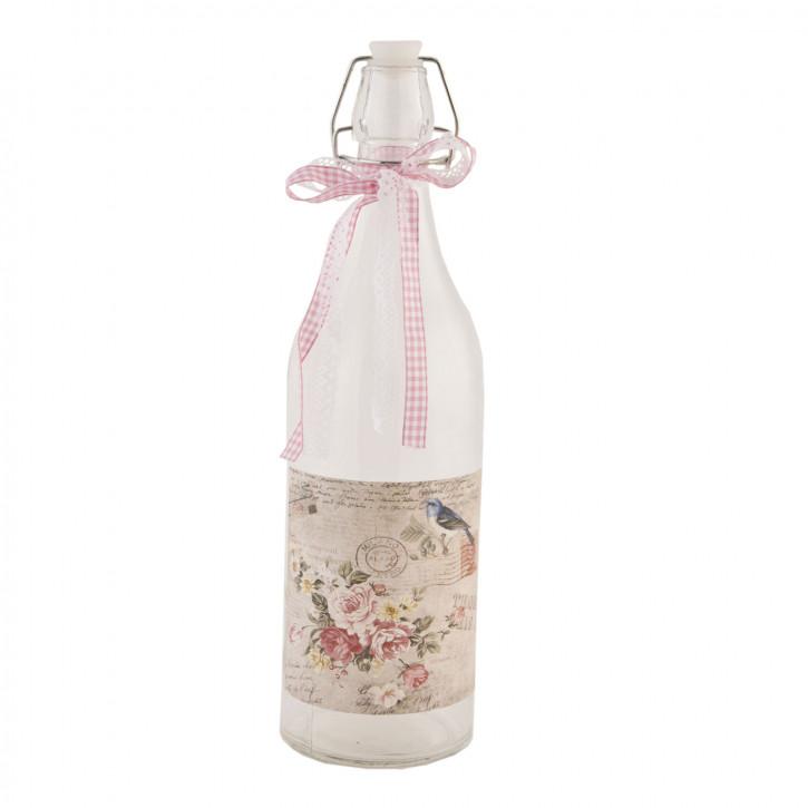 Flasche Glasflasche mit Schnappverschluss ca. Ø 9 x 32 cm
