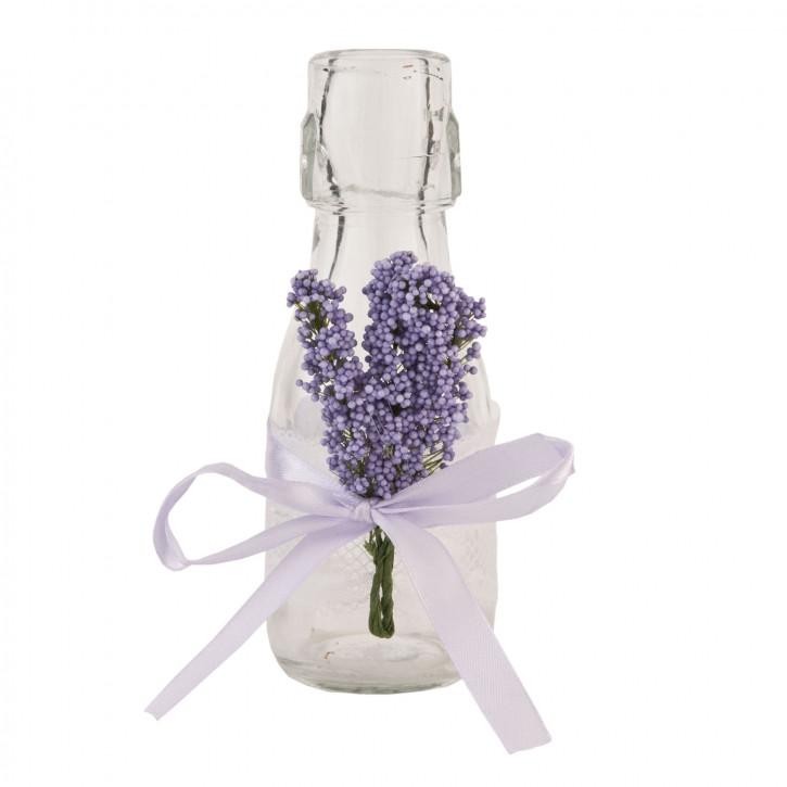Flasche Glasflasche Lavendel ca. Ø 6 x 13 cm