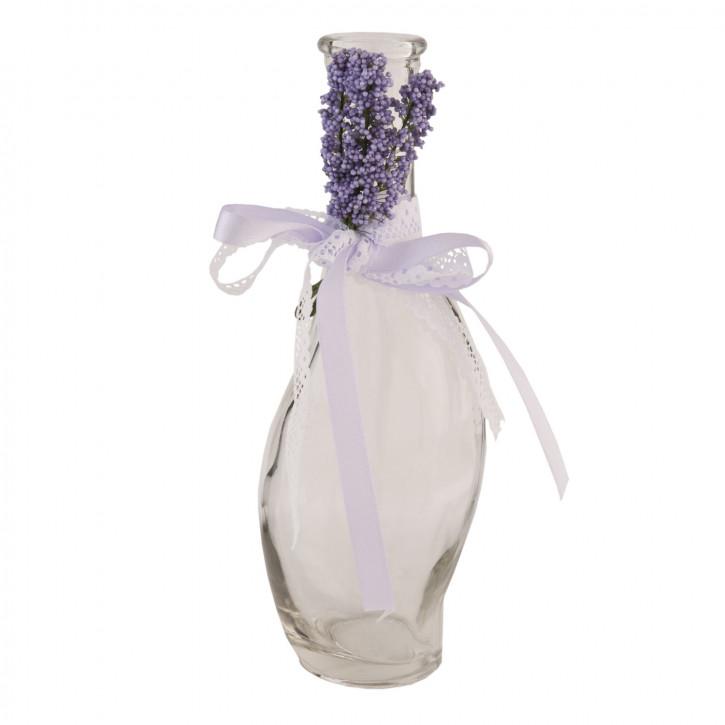 Flasche Glasflasche Karaffe Lavendel ca. Ø 7 x 20 cm