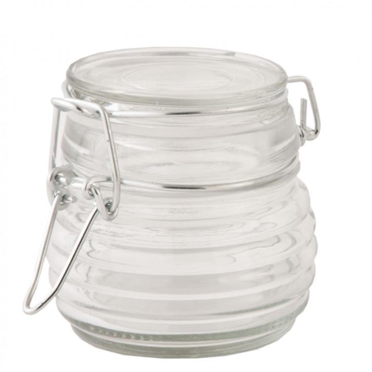 Vorratsglas mit Schnappverschluss transparent ca. Ø 7 x 7 cm