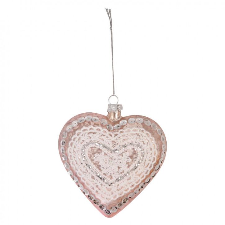 Anhänger Weihnachtskugel Herz ca. 10 x 4 x 10 cm