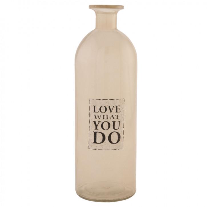 Flasche Glasflasche Love what you do transparent ca. Ø 9 x 27 cm