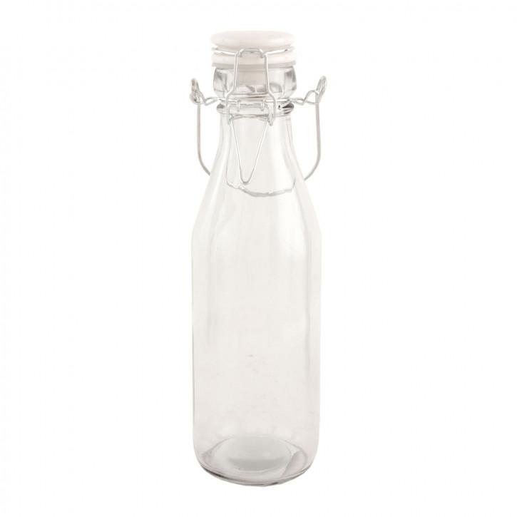 Glasflasche mit Schnappverschluss transparent ca. Ø 7 x 23 cm