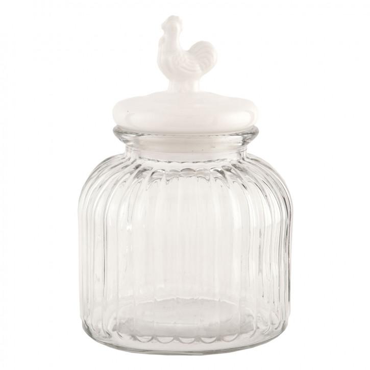 Vorratsglas transparent mit Deckel Hahn ca. Ø 17 x 25 cm