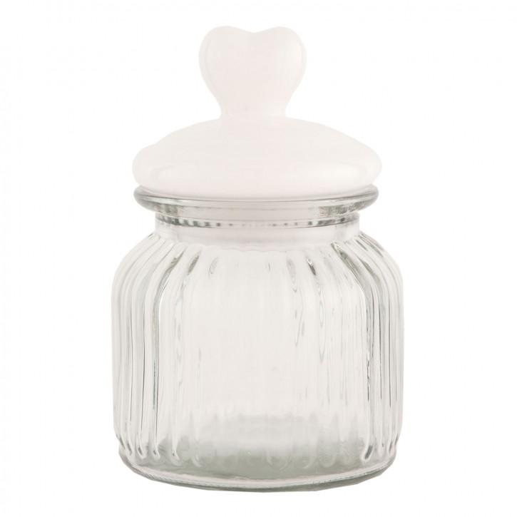 Vorratsglas transparent mit Deckel Herz ca. Ø 11 x 16 cm