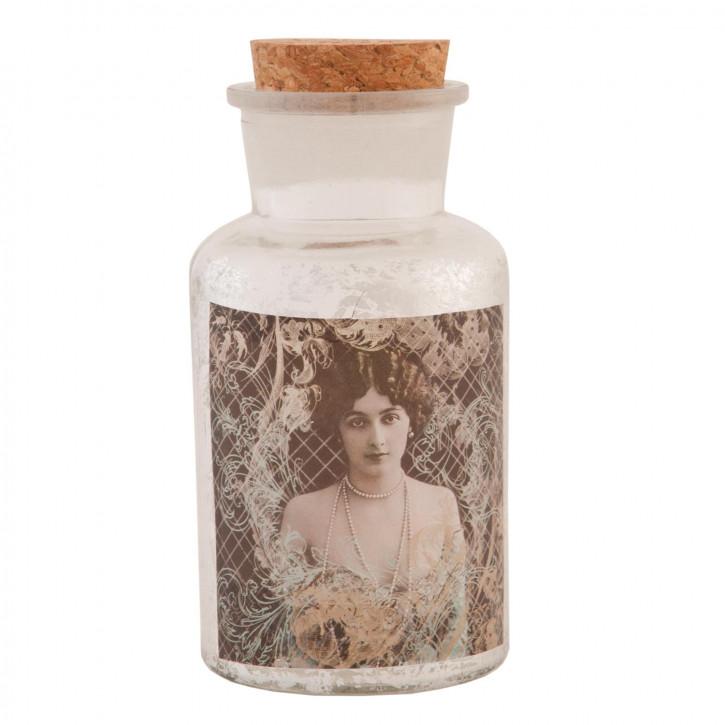 Flasche Glasflasche mit Korken ca. Ø 6 x 13 cm