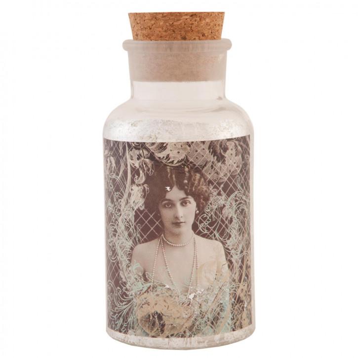 Flasche Glasflasche mit Korken ca. Ø 8 x 18 cm