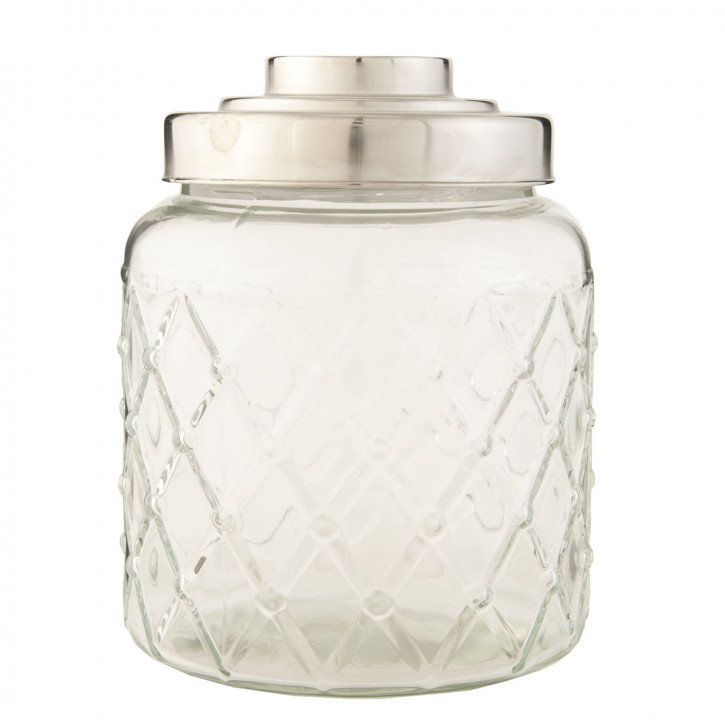 Topf Vorratsglas transparent mit Deckel ca. 16 x 16 x 22 cm
