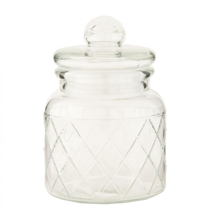 Topf Vorratsglas transparent mit Deckel ca. 10 x 10 x 15 cm