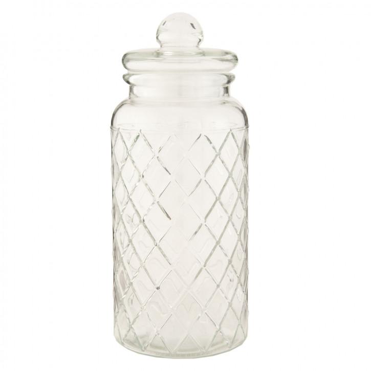 Topf Vorratsglas transparent mit Deckel ca. 10 x 10 x 25 cm