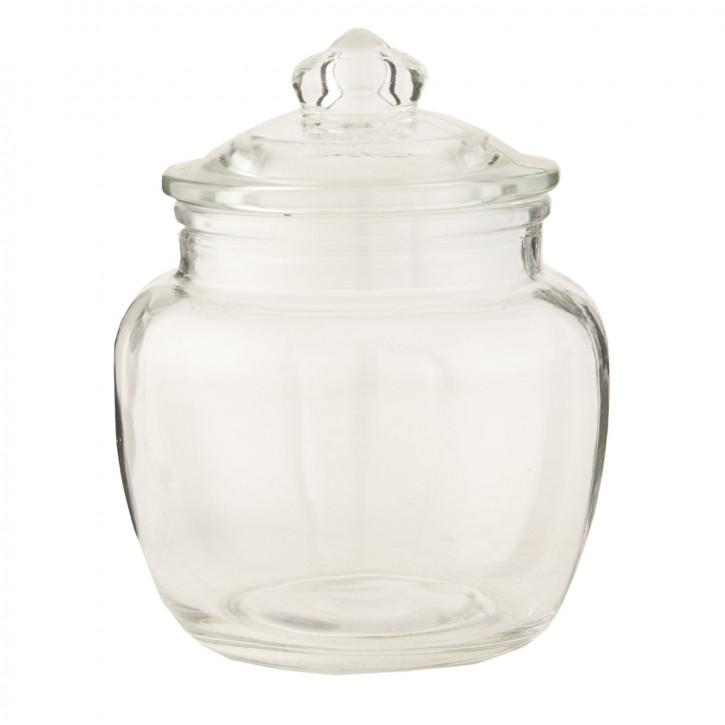 Topf Vorratsglas transparent mit Deckel ca. 11 x 11 x 15 cm