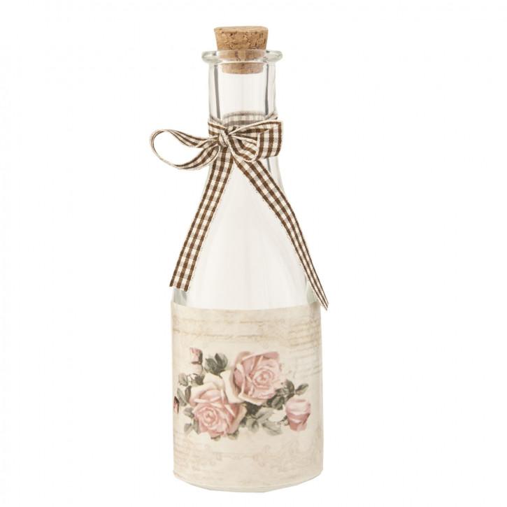Flasche Glasflasche mit Korken ca. Ø 6 x 18 cm