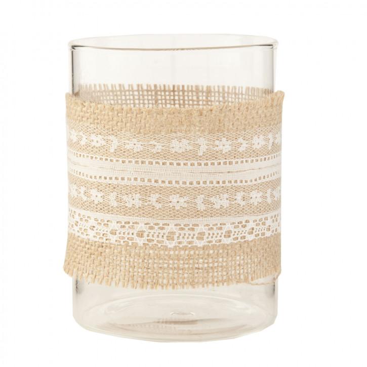 Teelicht Teelichthalter Windlicht transparent ca. Ø 9 x 12 cm