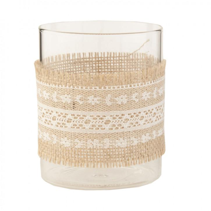 Teelicht Teelichthalter Windlicht transparent ca. Ø 8 x 10 cm