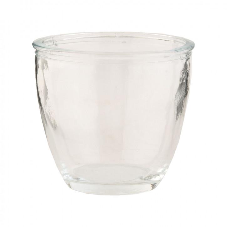 Teelichthalter Windlicht transparent ca. Ø 11 x 9 cm