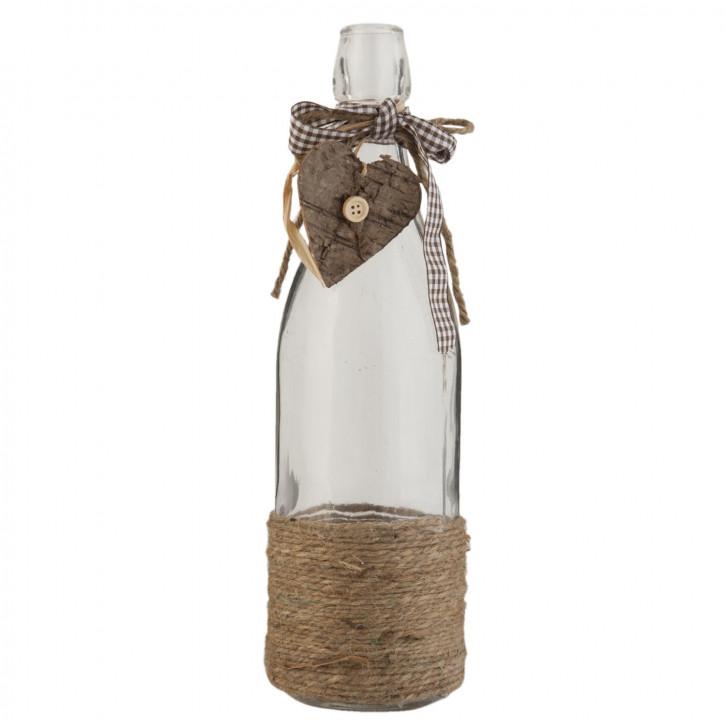 Glasflasche natürlich transparent ca. Ø 9 x 31 cm