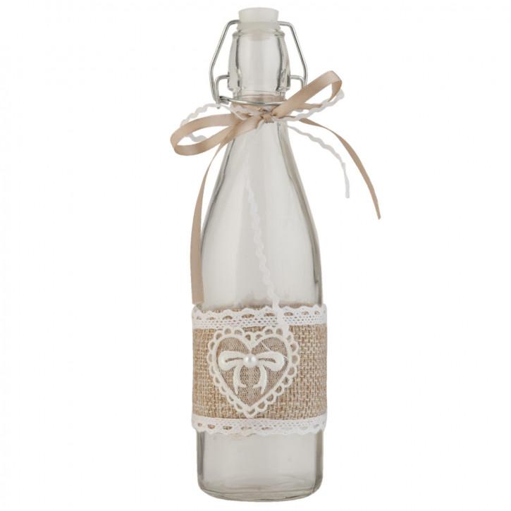 Glasflasche mit Schnappverschluss natürlich transparent ca. Ø 7 x 26 cm