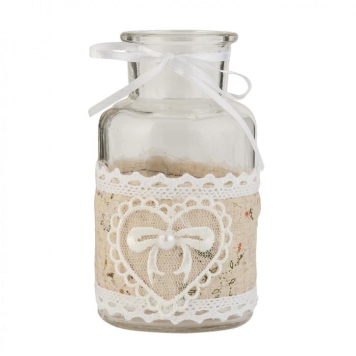 Flasche Glasflasche natürlich transparent ca. Ø 7 x 12 cm