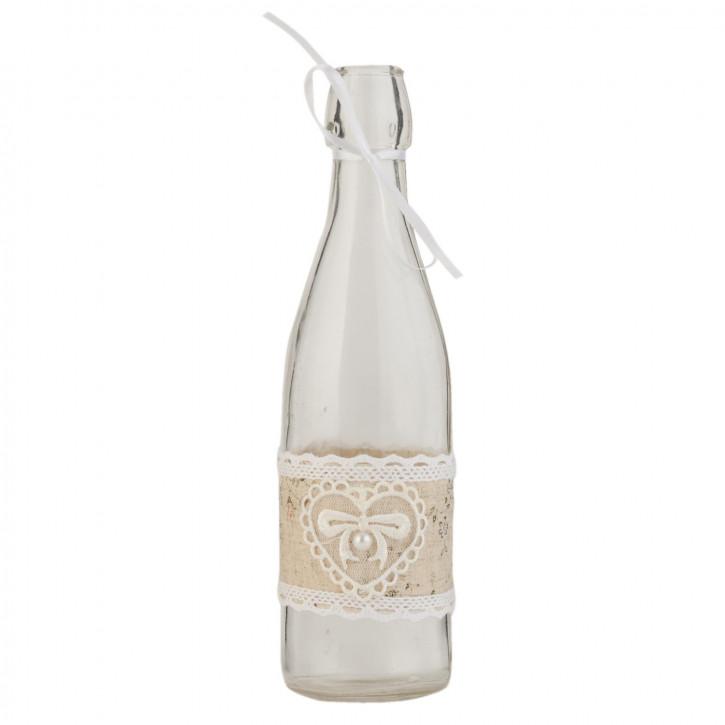 Glasflasche natürlich transparent ca. Ø 7 x 26 cm