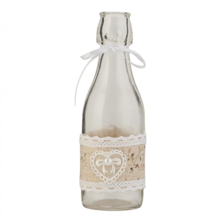 Glasflasche natürlich transparent ca. Ø 6 x 18 cm