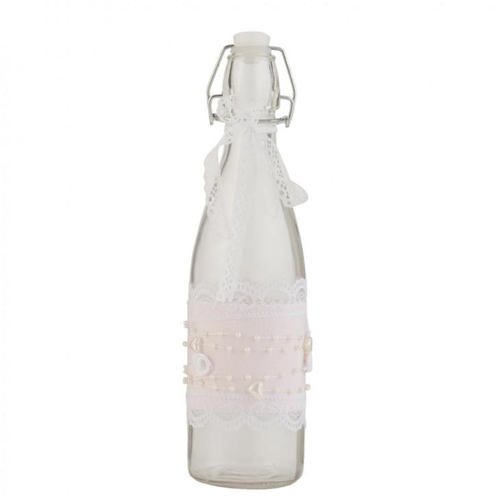 Glasflasche mit Schnappverschluss transparent ca. Ø 7 x 28 cm