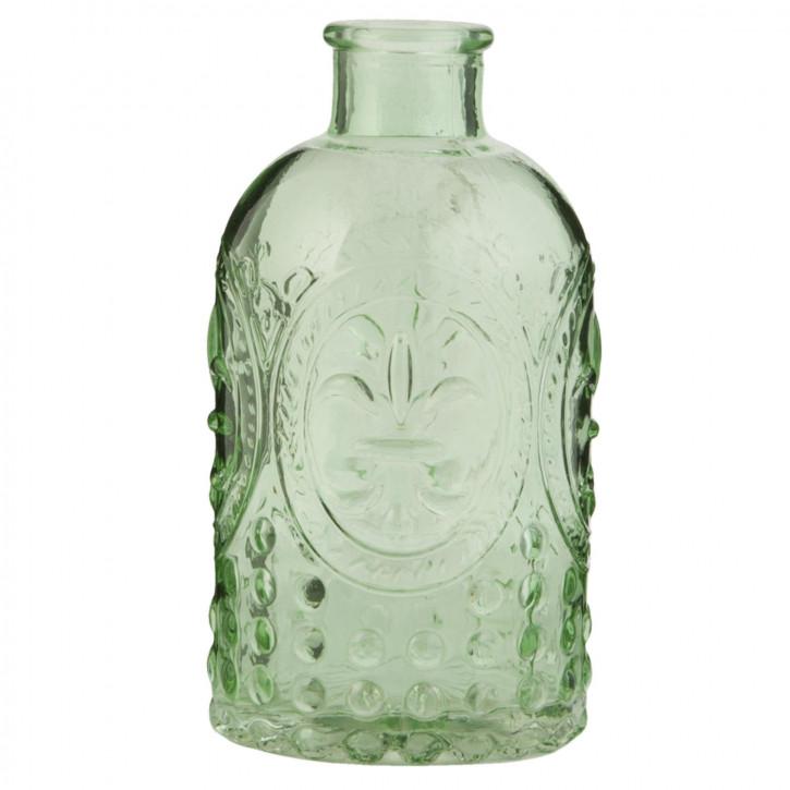 Glasflasche grün transparent ca. Ø 7 x 13 cm
