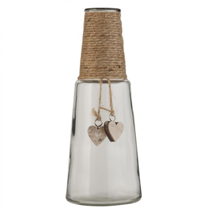 Glasflasche transparent ca. Ø 9 x 24 cm