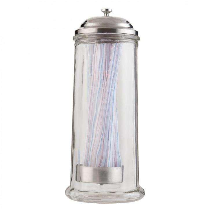 Vorratsglas mit Strohhalm Ø 11x28 cm