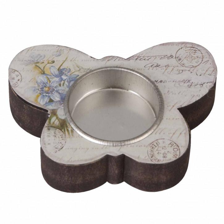 Teelichthalter Schmetterling 8*8cm
