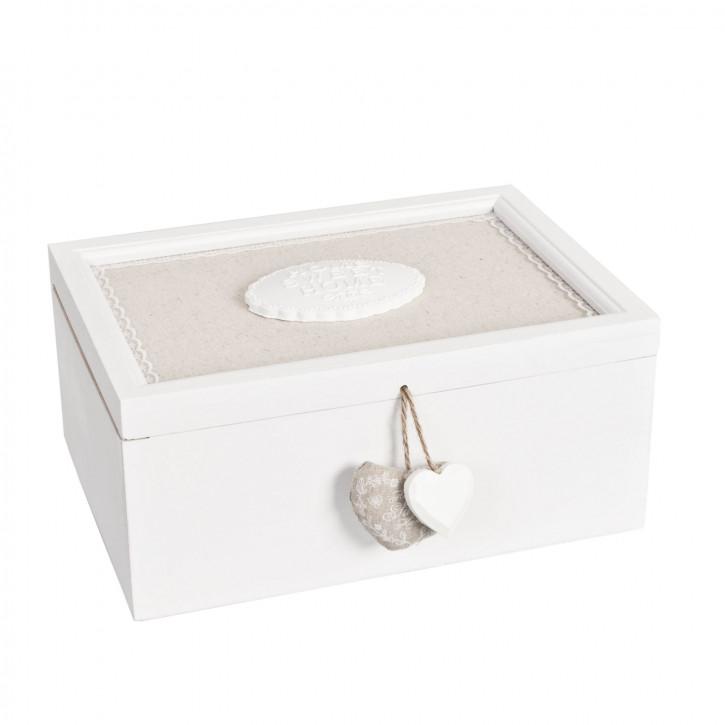 Große weiße nostalgische Holz Kiste ~ HOME SWEET HOME ~