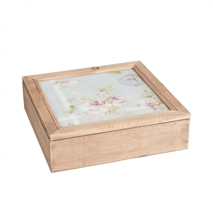 Schöne Holz Teedose natur
