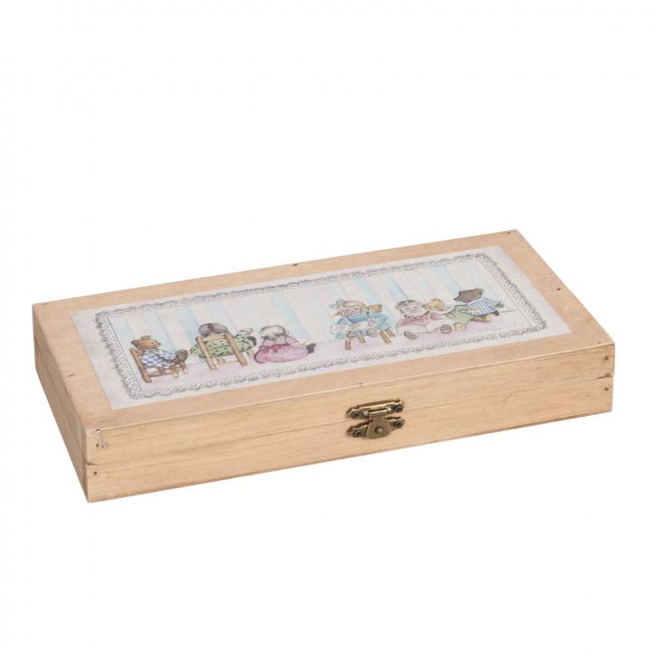 Kiste Schachtel Büchse Holz ca. 24 x 12 x 4 cm