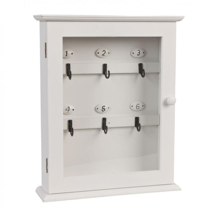 weißer Nostalgie Schlüsselkasten 25 x 7 x 31 cm