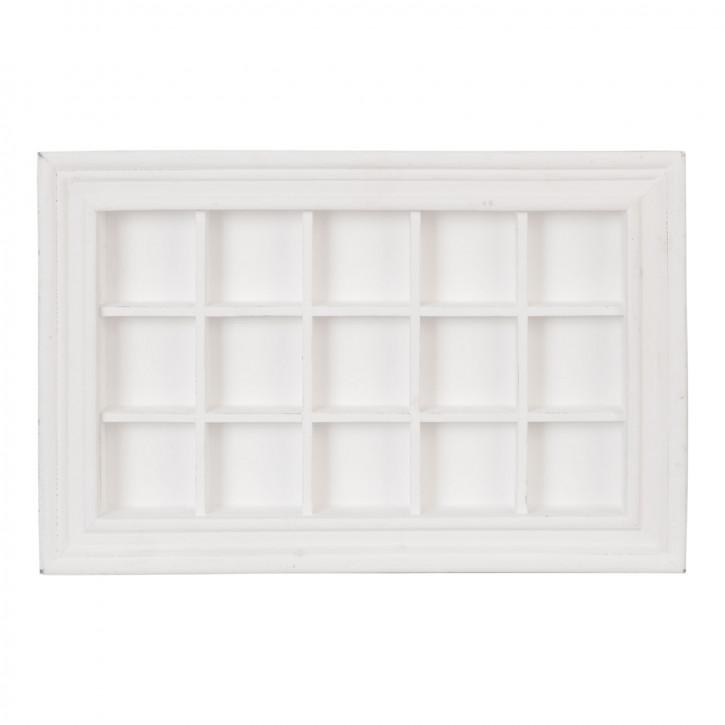 Wandregal Holzregal weiß ca. 39 x 60 x 6 cm
