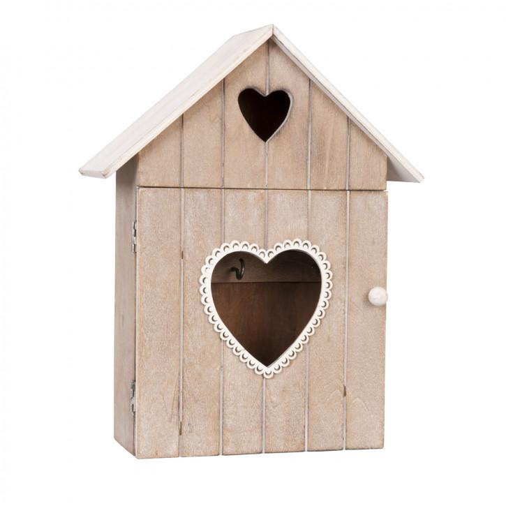 Schlüsselkasten Herz braun ca. 21 x 9 x 26 cm