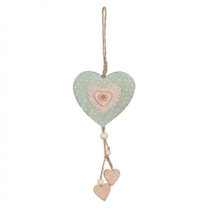 Anhänger Herz Herzen ca. 9 x 11 cm