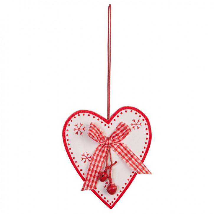 Herz mit Glöckchen zum Hängen ca. 8x9 cm